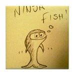 Ninja Fish #1 Tile Coaster