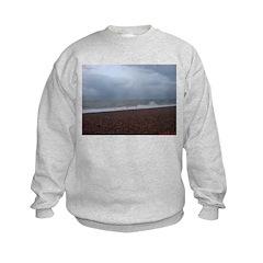 The Sea in Hastings, East Sus Kids Sweatshirt