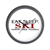 Eat Sleep Ski Wall Clock