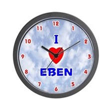I Love Eben (Red/Bl) Valentine Wall Clock