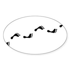 Walking feet Oval Decal