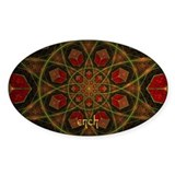 Fractal Oval Decal