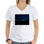 Blue Sky at Night Women's V-Neck T-Shirt