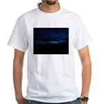 Blue Sky at Night White T-Shirt