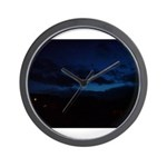 Blue Sky at Night Wall Clock