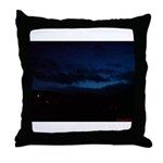 Blue Sky at Night Throw Pillow