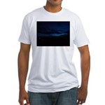 Blue Sky at Night Fitted T-Shirt