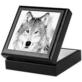 Great White Wolf Keepsake Box