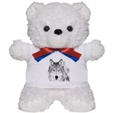 Great White Wolf Teddy Bear