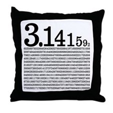 3.1415926 Pi Throw Pillow