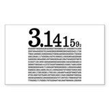 3.1415926 Pi Rectangle Decal