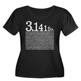 3.1415926 Pi Women's Plus Size Scoop Neck Dark T-S