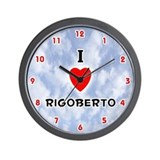 I Love Rigoberto (Red/Blk) Valentine Wall Clock