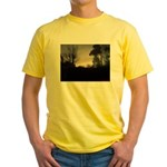 Misty Winter Sky Yellow T-Shirt