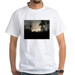 Misty Winter Sky White T-Shirt