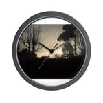Misty Winter Sky Wall Clock
