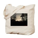 Misty Winter Sky Tote Bag