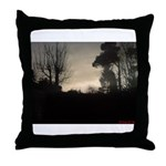 Misty Winter Sky Throw Pillow