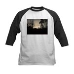 Misty Winter Sky Kids Baseball Jersey