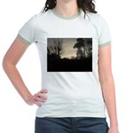 Misty Winter Sky Jr. Ringer T-Shirt
