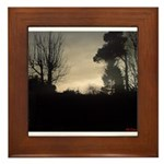 Misty Winter Sky Framed Tile
