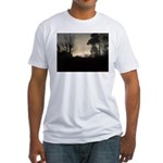 Misty Winter Sky Fitted T-Shirt