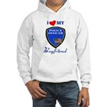 Police Boyfriend Hooded Sweatshirt