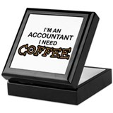 Accountant Need Coffee Keepsake Box