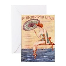 Pontchartrain Beach Poster 2 Greeting Card
