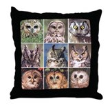 Fearful owl Throw Pillow