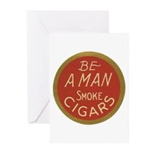 Be a Man Vintage Cigar Ad Greeting Cards (Pk of 10