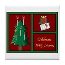 Celebrate w Stories Tile Coaster
