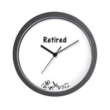Unique Retirement Wall Clock