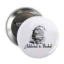 "Addicted to Books! 2.25"" Button (10 pack)"