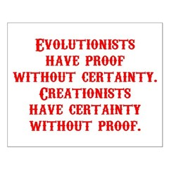 Evolutionists have proof with Posters