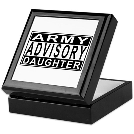 Army Daughter Advisory Keepsake Box