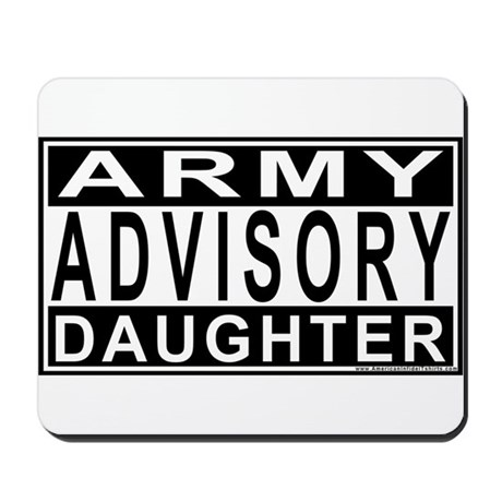 Army Daughter Advisory Mousepad