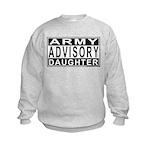 Army Daughter Advisory Kids Sweatshirt