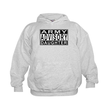Army Daughter Advisory Kids Hoodie