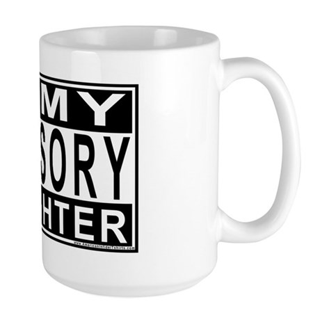 Army Daughter Advisory Large Mug