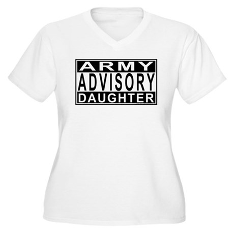 Army Daughter Advisory Women's Plus Size V-Neck T-