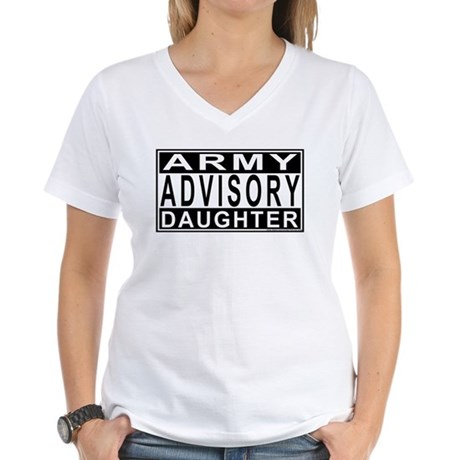 Army Daughter Advisory Women's V-Neck T-Shirt