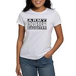 Army Daughter Advisory Women's T-Shirt