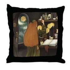 Celtic Sorceress Throw Pillow