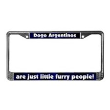 Furry People Dogo Argentino License Plate Frame