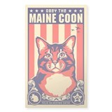 Obey the Maine Coon Cat! USA Decal