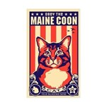 Obey the Maine Coon Cat! USA Sticker