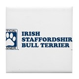 IRISH STAFFORDSHIRE BULL TERRIER Tile Coaster