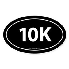 10K Runner Bumper Sticker -Black (Oval)