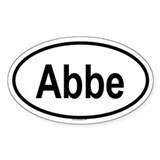 ABBE Oval Decal